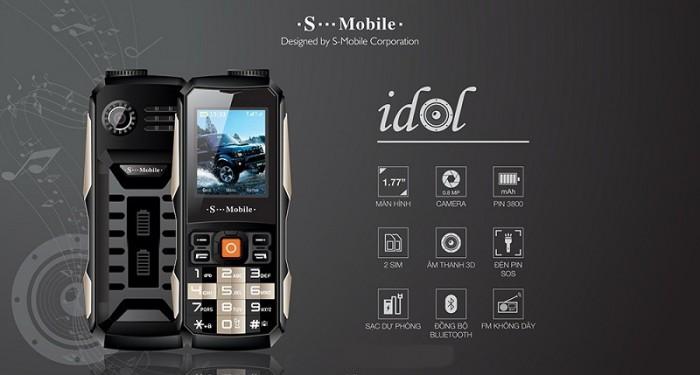 Điện Thoại S-Mobi Idol 2 Sim Phụ Kiện Đầy Đủ