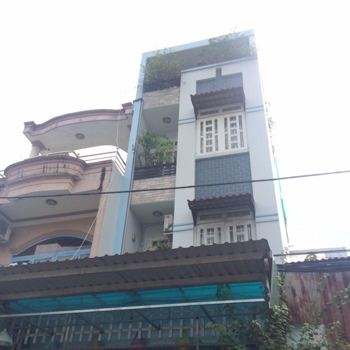 Bán Nhà hẻm 1 trục Cây Trâm, phường 8, quận Gò Vấp, 4 x 19m, 1 Trệt + 3 Lầu, giá 4,9 tỷ