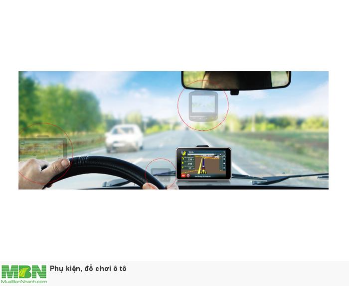 Thiết bị đa chức năng cho phép vừa dẫn đường vừa làm camera hành trình ghi hình trước sau cùng lúc. Giúp tài xế yên tâm chỉ với một thiết bị A45 duy nhất.