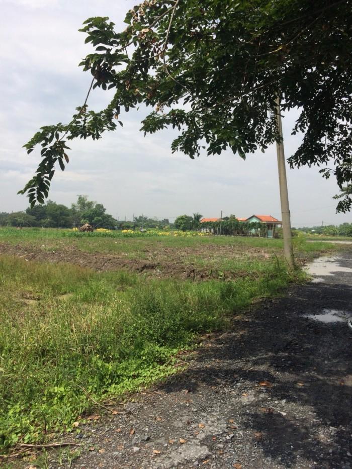 Đất mặt tiền Bình Chánh 1091m2, có 120m thổ cư, giá: 2,7 tỷ
