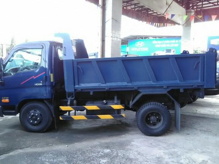 Xe tải ben hd88 tải 5 tấn - 4 khối vay 90% xe chìa khóa trao tay