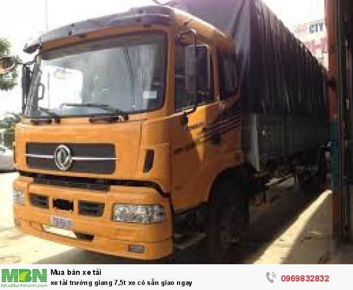 xe tải trường giang 7,5t xe có sẵn giao ngay