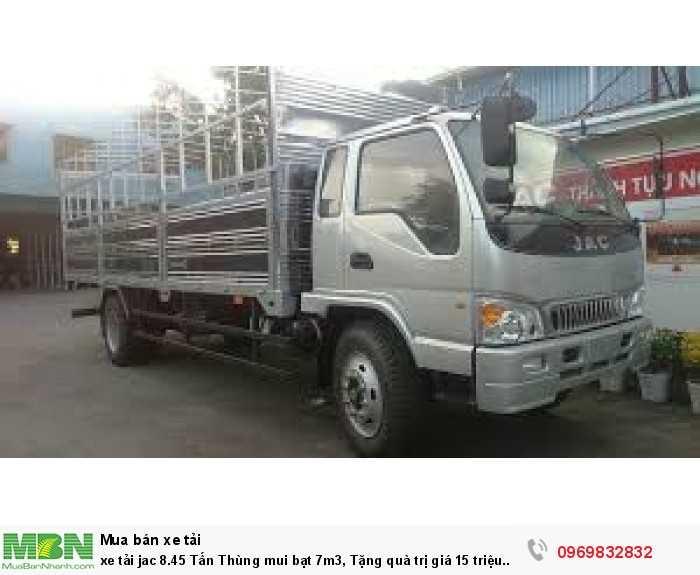 xe tải jac 8.45 Tấn Thùng mui bạt 7m3, Tặng quà trị giá 15 triệu đồng 0