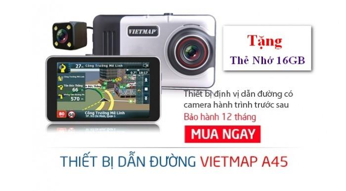Thiết bị dẫn đường VIETMAP A45 Ghi Hình Trước Sau + Tặng Kèm Thẻ Nhớ - MSN388273 5