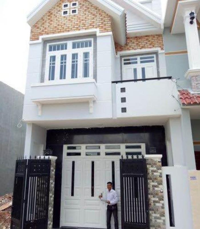 Nhà 1 lầu mặt tiền 7m, 100m2, sổ hồng riêng, giá 990tr, bao sang tên, hỗ trợ Vay ngân hàng
