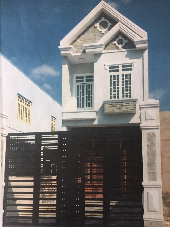 Bán nhà 1 lầu, SHR, mặt tiền rộng 7m, cách chợ Bình Chánh 3km
