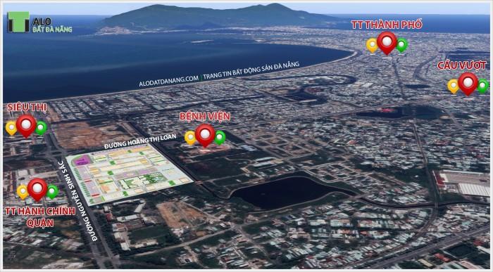 Bán đất mặt tiền cung đường đẹp Nguyễn Sinh Sắc, Hoàng Thị Loan, cách biển 500m
