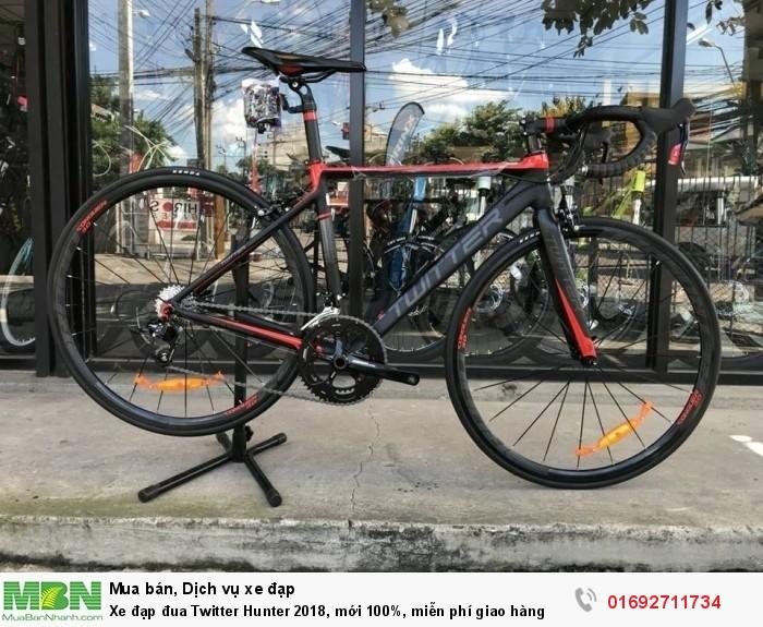 Xe đạp đua Twitter Hunter 2018, mới 100%, miễn phí giao hàng, màu Đen đỏ