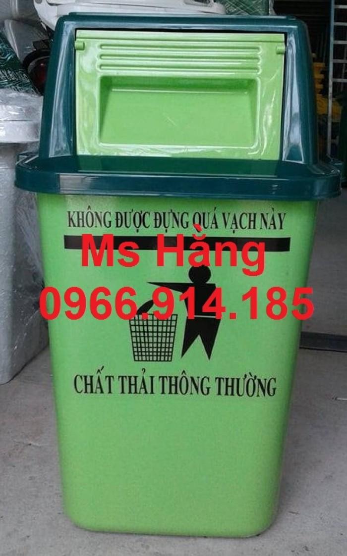 Cung cấp thùng rác 60l nắp lật chiết khấu cao