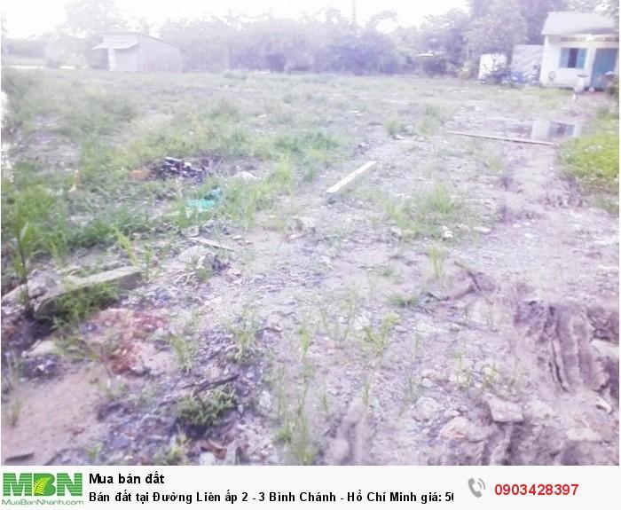 Bán đất tại Đường Liên ấp 2 - 3 Bình Chánh - Hồ Chí Minh