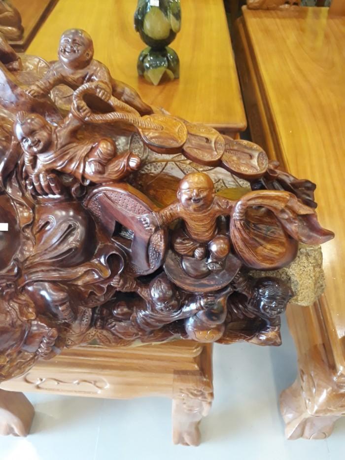 Di lạc ngồi trẻ con gỗ tự nhiên cao cấp -DL33
