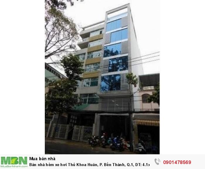 Bán nhà hẻm xe hơi Thủ Khoa Huân, P. Bến Thành, Q.1, DT: 4.1x18m
