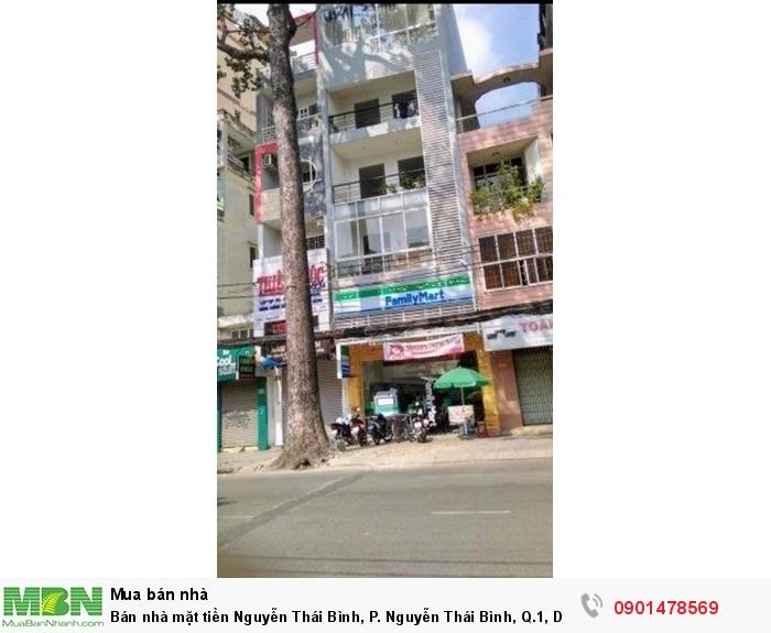Bán nhà mặt tiền Nguyễn Thái Bình, P. Nguyễn Thái Bình, Q.1, DT: 4x18m, trệt, 5 tầng, đúc đẹp