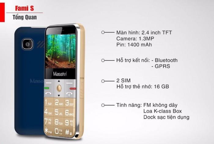 Masstel Fami S 2 Sim, Phù Hợp Với Người Lớn Tuổi + Tặng Kèm Dock Sạc - MSN388275