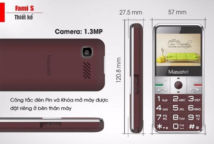 Masstel Fami S 2 Sim, Phù Hợp Với Người Lớn Tuổi + Tặng Kèm Dock Sạc - MSN3882752