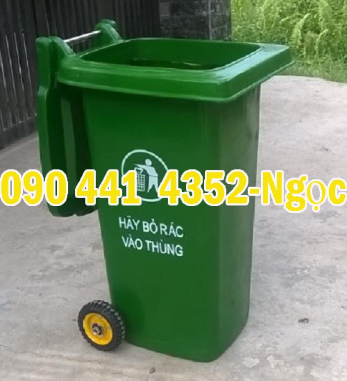 Thùng đựng rác 120 lít, 240 lít , thùng rác nhựa có 2 bánh xe