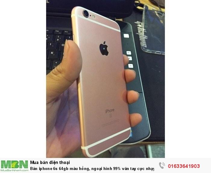 Bán iphone 6s 64gb màu hồng, ngoại hình 99% vân tay cực nhạy nha