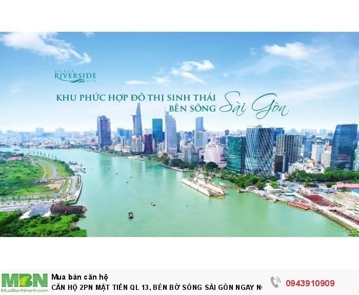 Căn Hộ 2pn Mặt Tiền Ql 13, Bên Bờ Sông Sài Gòn Ngay Ngã Tư Bình Triệu - Ck 2%/SP