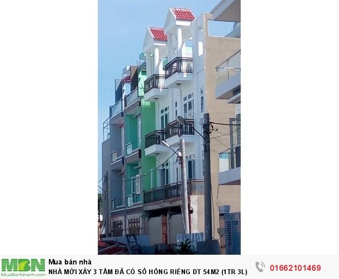 Nhà Mới Xây 3 Tấm Đã Có Sổ Hồng Riêng Dt 54M2 , Đường Xe Hơi