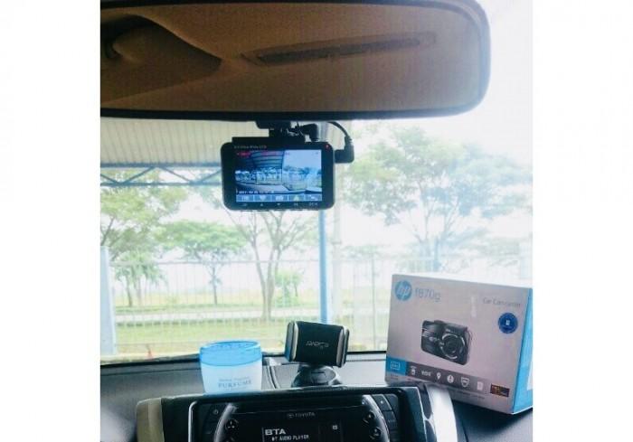 HP F870G ghi hình Full HD – có GPS – 2 camera trước sau kiêm camera lùi – LCD 3.0 icnh | Cảnh báo làn đường – cảnh báo quá tốc độ – cảnh báo bật đèn pha – cảnh báo xe phía trước… | Cân bằng & ghi hình ngược sáng – Ghi hình ban đêm | Góc quay trước 155 độ – sau 130 độ