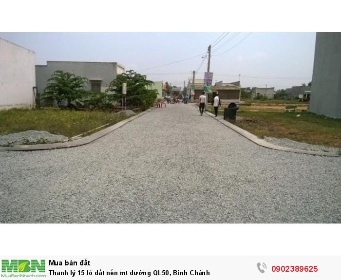 Thanh lý 15 lô đất nền mt đường QL50, Bình Chánh