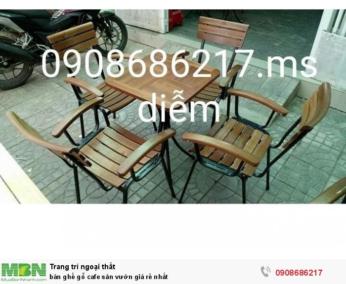 Bàn ghế gỗ cafe sân vườn giá rẻ nhất0