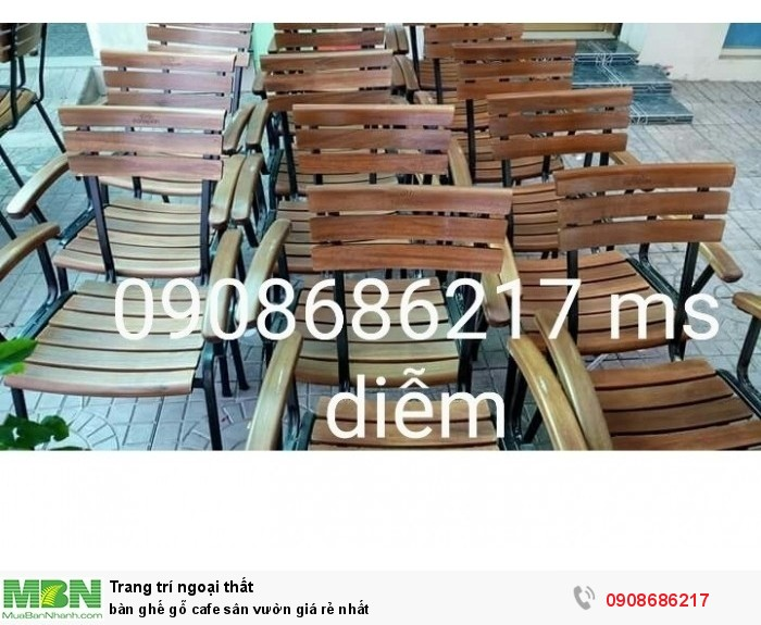 Bàn ghế gỗ cafe sân vườn giá rẻ nhất1