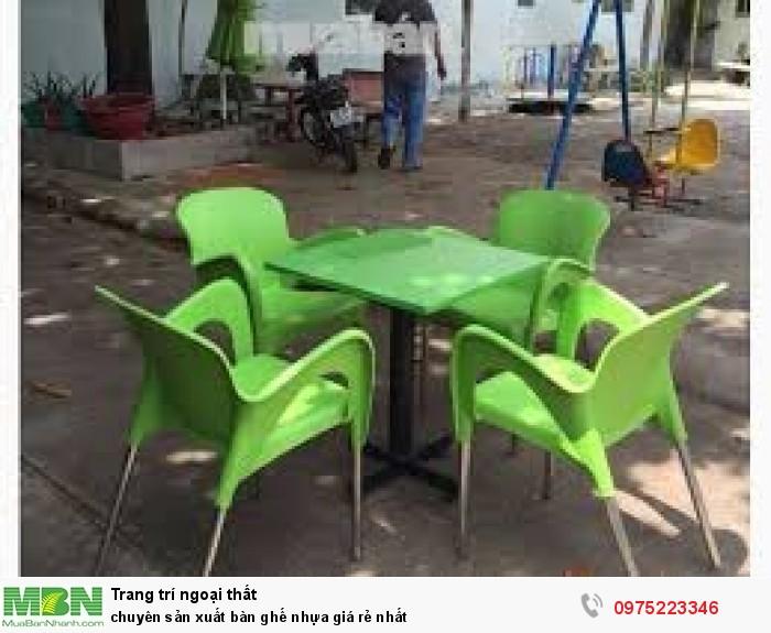 Chuyên sản xuất bàn ghế nhựa đúc nhiều màu giá rẻ nhất..0