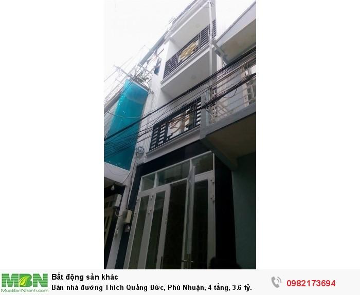Bán nhà đường Thích Quảng Đức, Phú Nhuận, 4 tầng