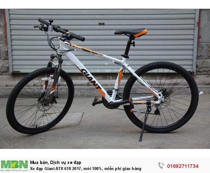 Xe đạp Giant ATX 610 2017, mới 100%, miễn phí giao hàng, màu Trắng cam