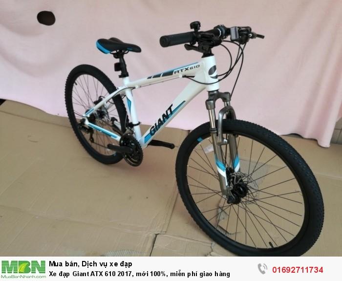 Xe đạp Giant ATX 610 2017, mới 100%, miễn phí giao hàng, màu Trắng xanh dương