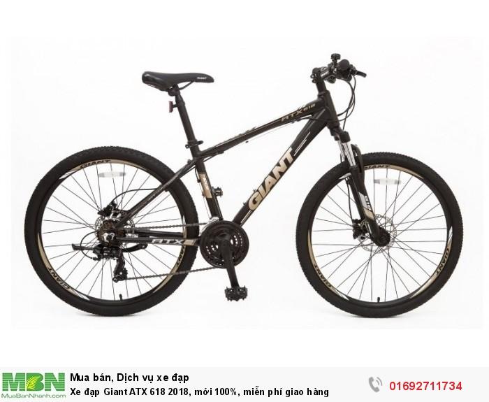 Xe đạp Giant ATX 618 2018, mới 100%, miễn phí giao hàng, màu Đen