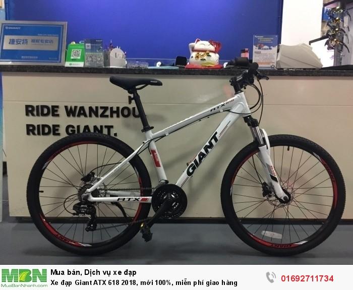 Xe đạp Giant ATX 618 2018, mới 100%, miễn phí giao hàng, màu Trắng
