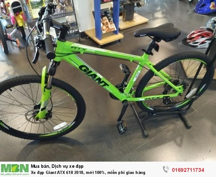 Xe đạp Giant ATX 618 2018, mới 100%, miễn phí giao hàng, màu Vàng chanh
