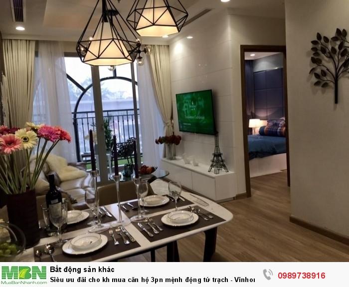Siêu ưu đãi cho kh mua căn hộ 3pn mệnh động tứ trạch - Vinhomes Gardenia