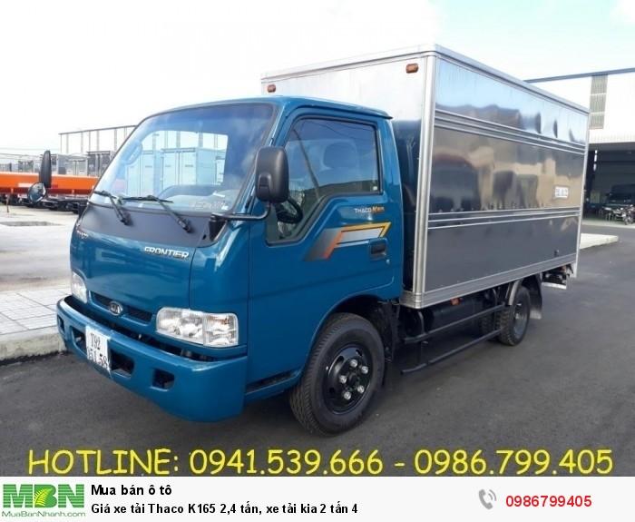 Giá xe tải Thaco K165 2,4 tấn, xe tải kia 2 tấn 4