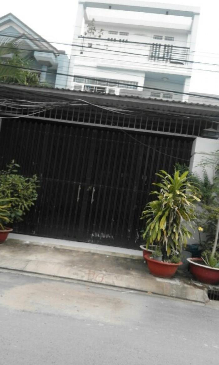 Căn nhà 1 trệt 1 lầu, mặt tiền đường 13, DT 11,29x30m