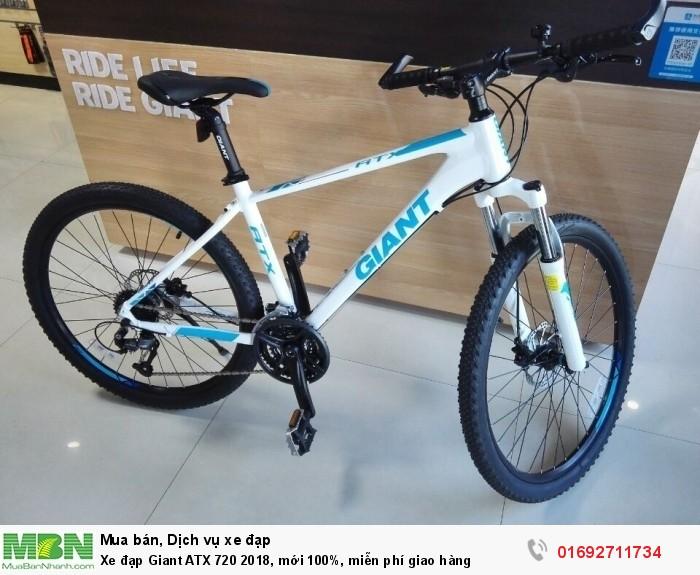 Xe đạp Giant ATX 720 2018, mới 100%, miễn phí giao hàng, màu Trắng xanh ngọc