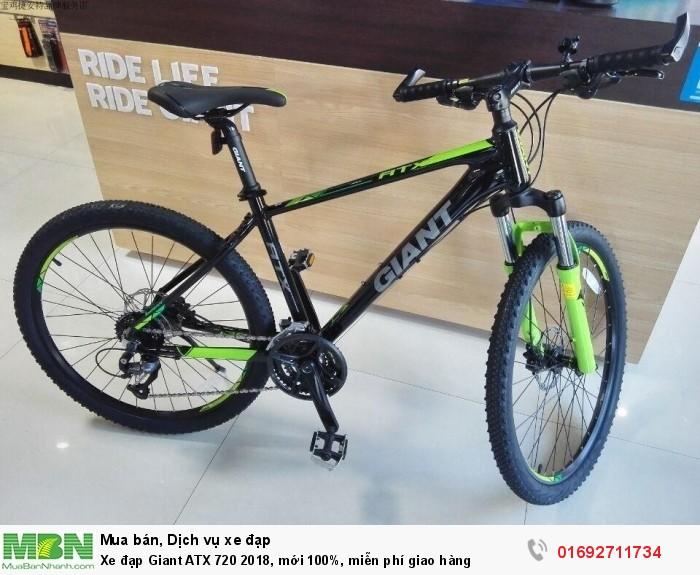 Xe đạp Giant ATX 720 2018, mới 100%, miễn phí giao hàng, màu Đen vàng chanh