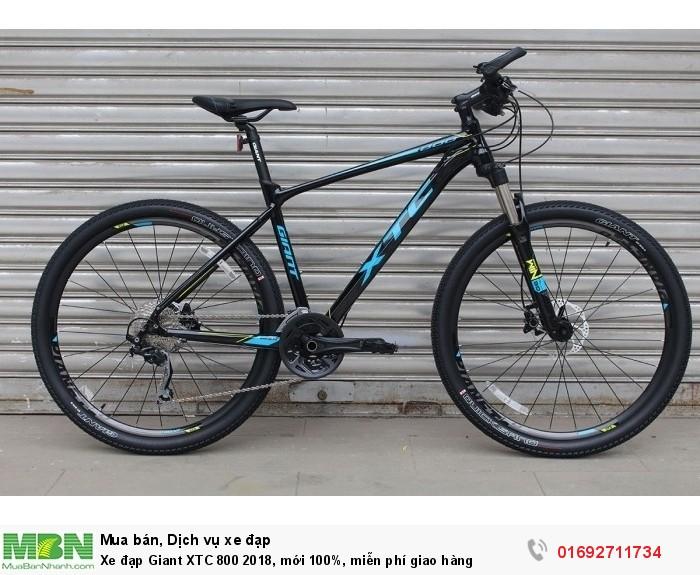 Xe đạp Giant XTC 800 2018, mới 100%, miễn phí giao hàng, màu Đen xanh dương
