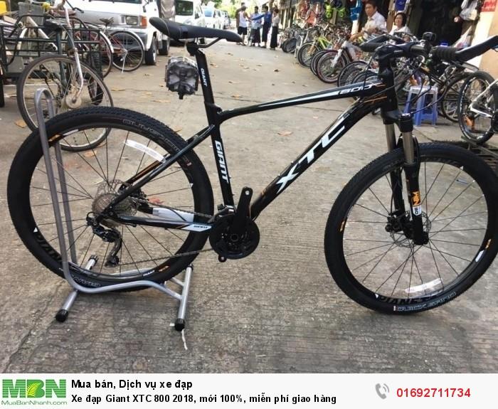 Xe đạp Giant XTC 800 2018, mới 100%, miễn phí giao hàng, màu Đen  cam