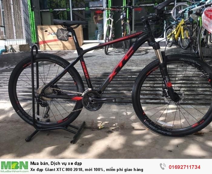 Xe đạp Giant XTC 800 2018, mới 100%, miễn phí giao hàng, màu Đen  đỏ