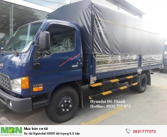 Xe tải Hyundai HD99 tải trọng 6.5 tấn - Trả trước 150 triệu nhận xe ngay.