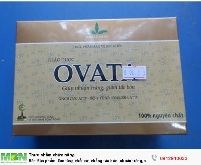 Bán Sản phẩm, làm tăng chất xơ, chống táo bón, nhuận tràng, sức khỏe tốt-OVATA0
