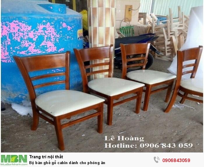 Bộ bàn ghế gỗ cabin dành cho phòng ăn1