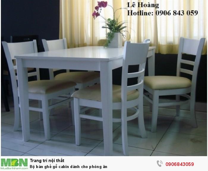 Bộ bàn ghế gỗ cabin dành cho phòng ăn4