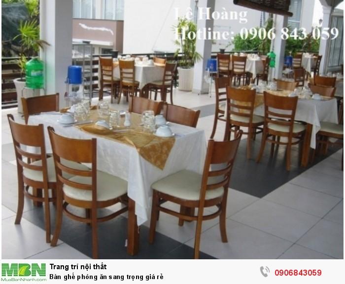 Bàn ghế phòng ăn sang trọng giá rẻ - Hotline: 0906193788 (24/24)0