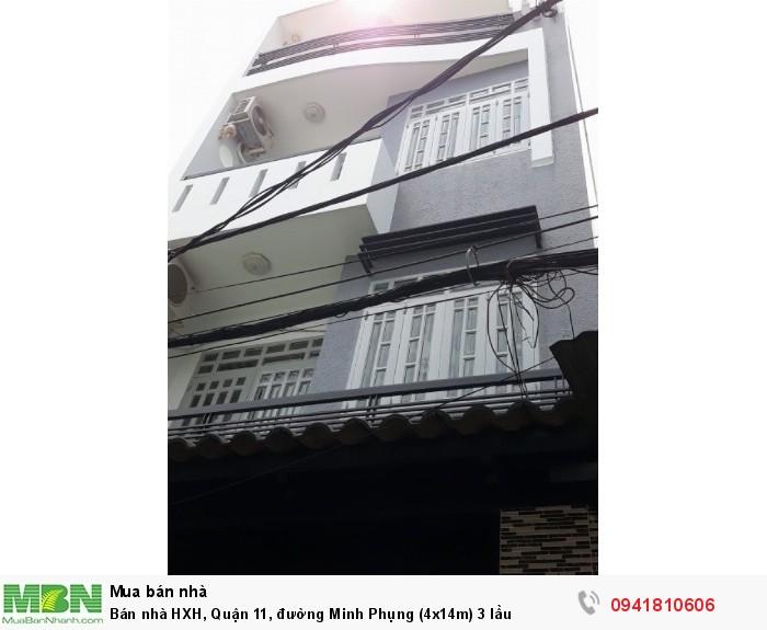 Bán nhà HXH, Quận 11, đường Minh Phụng (4x14m) 3 lầu