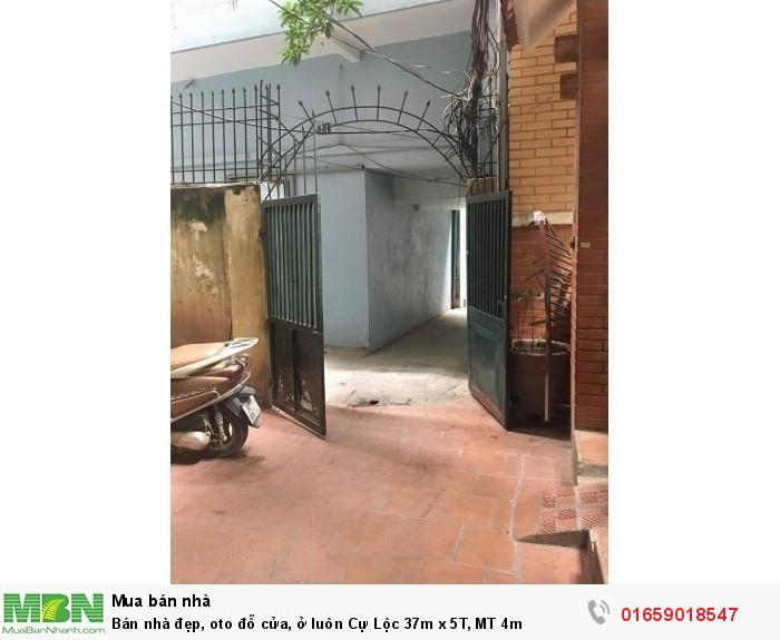 Bán nhà đẹp, oto đỗ cửa, ở luôn Cự Lộc 37m x 5T, MT 4m