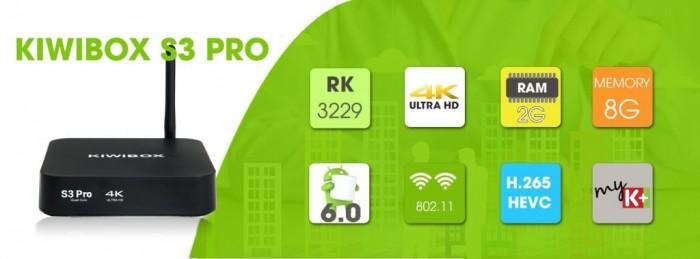 ANDROID Kiwibox S3 Pro có nhiều tính năng mới nhất.